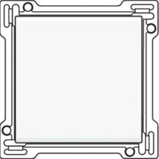 Afwerkingsset voor enkelvoudige schakelaar of drukknop, White