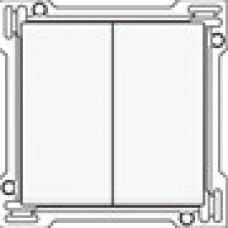 Afwerkingsset voor serieschakelaar, wisselschakelaar + drukknop N.O., dubbele wisselschakelaar of dubbele drukknop N.O. of N.G. , White