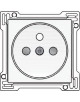 Afwerkingsset voor stopcontact met penaarde en kinderveiligheid, inbouwdiepte 28,5mm, White