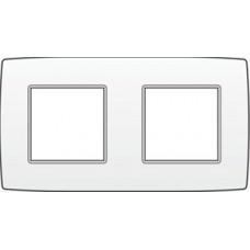 afdekplaat tweevoudig horizontaal original white