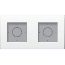 Tweevoudige opbouwkit voor opbouwmontage van 2 inbouwapparaten, White