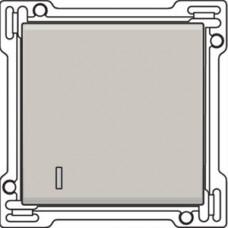 Afwerkingsset met lens voor enkelvoudige schakelaar of drukknop, Light grey