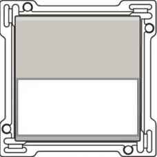 Afwerkingsset met tekstveld voor enkelvoudige schakelaar of drukknop, Light grey