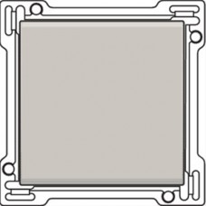 Afwerkingsset voor enkelvoudige schakelaar of drukknop, Light grey