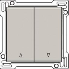 Afwerkingsset voor tweevoudige rolluikdrukknop, light-grey