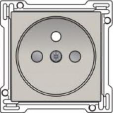 Afwerkingsset voor stopcontact met penaarde en kinderveiligheid, inbouwdiepte 28,5mm, Light grey