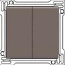 Afwerkingsset voor serieschakelaar, wisselschakelaar + drukknop N.O., dubbele wisselschakelaar of dubbele drukknop N.O. of N.G. , Greige