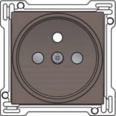 Afwerkingsset voor stopcontact met penaarde en kinderveiligheid, inbouwdiepte 21mm, Greige