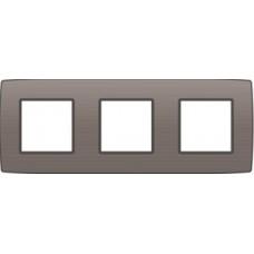 afdekplaat drievoudig horizontal original greige