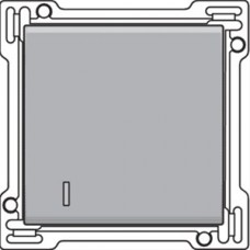 Afwerkingsset met lens voor enkelvoudige schakelaar of drukknop, Sterling