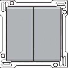 Afwerkingsset voor serieschakelaar, wisselschakelaar + drukknop N.O., dubbele wisselschakelaar of dubbele drukknop N.O. of N.G. , Sterling