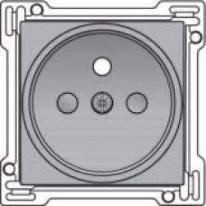 Afwerkingsset voor stopcontact met penaarde en kinderveiligheid, inbouwdiepte 21mm, Sterling