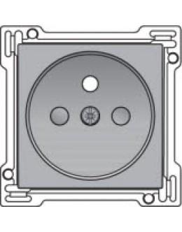 Afwerkingsset voor stopcontact met penaarde en kinderveiligheid, inbouwdiepte 28,5mm, Sterling