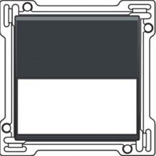 Afwerkingsset met tekstveld voor enkelvoudige schakelaar of drukknop, Anthracite