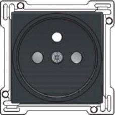 Afwerkingsset voor stopcontact met penaarde en kinderveiligheid, inbouwdiepte 21mm, Anthracite