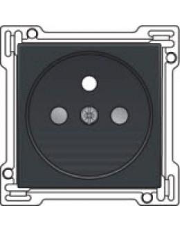 Afwerkingsset voor stopcontact met penaarde en kinderveiligheid, inbouwdiepte 28,5mm, Anthracite
