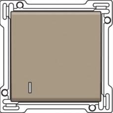 Afwerkingsset met lens voor enkelvoudige schakelaar of drukknop, Bronze