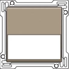 Afwerkingsset met tekstveld voor enkelvoudige schakelaar of drukknop, Bronze