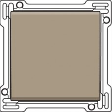 Afwerkingsset voor enkelvoudige schakelaar of drukknop, Bronze