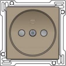 Afwerkingsset voor stopcontact zonder aarding met kinderveiligheid, Bronze