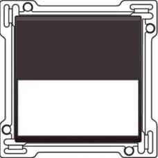 Afwerkingsset met tekstveld voor enkelvoudige schakelaar of drukknop, Dark brown