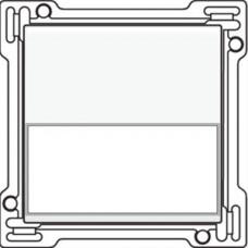 Afwerkingsset met tekstveld voor enkelvoudige schakelaar of drukknop, White coated