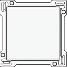 Afwerkingsset voor enkelvoudige schakelaar of drukknop, White coated