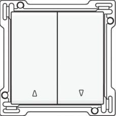 Afwerkingsset voor tweevoudige rolluikdrukknop, white steel