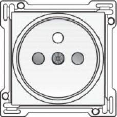 Afwerkingsset voor stopcontact met penaarde en kinderveiligheid, inbouwdiepte 21mm, White coated