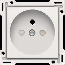 Afwerkingsset voor stopcontact met penaarde en kinderveiligheid, inbouwdiepte 28,5mm, White coated
