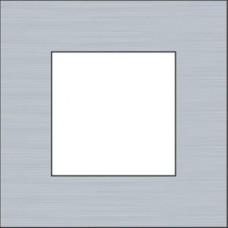 afdekplaat enkelvoudig pure alu steel grey