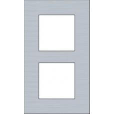 afdekplaat tweevoudig verticaal pure alu steel grey
