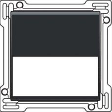 Afwerkingsset met tekstveld voor enkelvoudige schakelaar of drukknop, Black coated