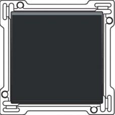 Afwerkingsset voor enkelvoudige schakelaar of drukknop, Black coated