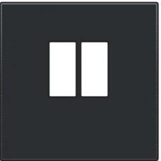 Afwerkingsset voor enkelvoudige luidsprekeraansluiting, black steel