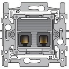sokkel telefooncontactdoos 2xRJ11 parallel