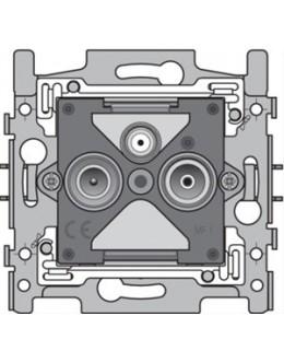 sokkel coax-aanlsuiting 2x enkelvoudig mannelijk voor tv, fm en satelliet