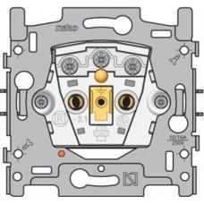 sokkel voor stopcontact met spanningsaanduiding, penaarde en kinderveiligheid, inbouwdiepte 28,5mm
