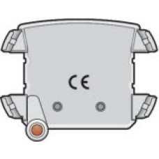 Verlichtingseenheid met amberkleurige led voor stopcontact met spanningsaanduiding