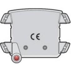 Verlichtingseenheid met rode led voor stopcontact met spanningsaanduiding