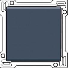Afwerkingsset voor enkelvoudige schakelaar of drukknop, alu-look steel grey
