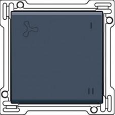 Afwerkingsset voor wisselschakelaar voor mechanische motorsturing, alu-look steel grey