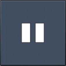 Afwerkingsset voor USB-lader, alu-look steel grey