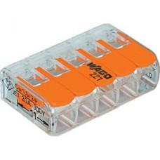 wago Verbindingsklem COMPACT: 5 x 0,14 - 4 mm² - Transparant & Oranje 25 stuks