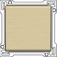 Afwerkingsset voor enkelvoudige schakelaar of drukknop, alu-look gold