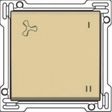 Afwerkingsset voor wisselschakelaar voor mechanische motorsturing, alu-look gold