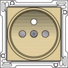 Afwerkingsset voor stopcontact met penaarde en kinderveiligheid, inbouwdiepte 21mm, alu-look gold