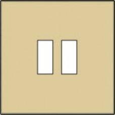 Afwerkingsset voor USB-lader, alu-look gold