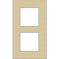 afdekplaat tweevoudig verticaal pure alu gold