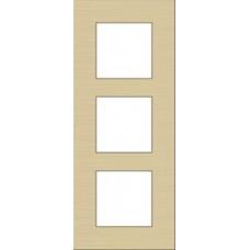 afdekplaat drievoudig verticaal pure alu gold